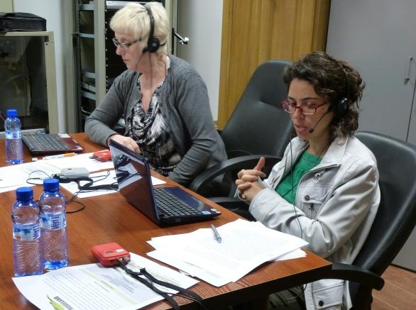 Interpretes trabajando