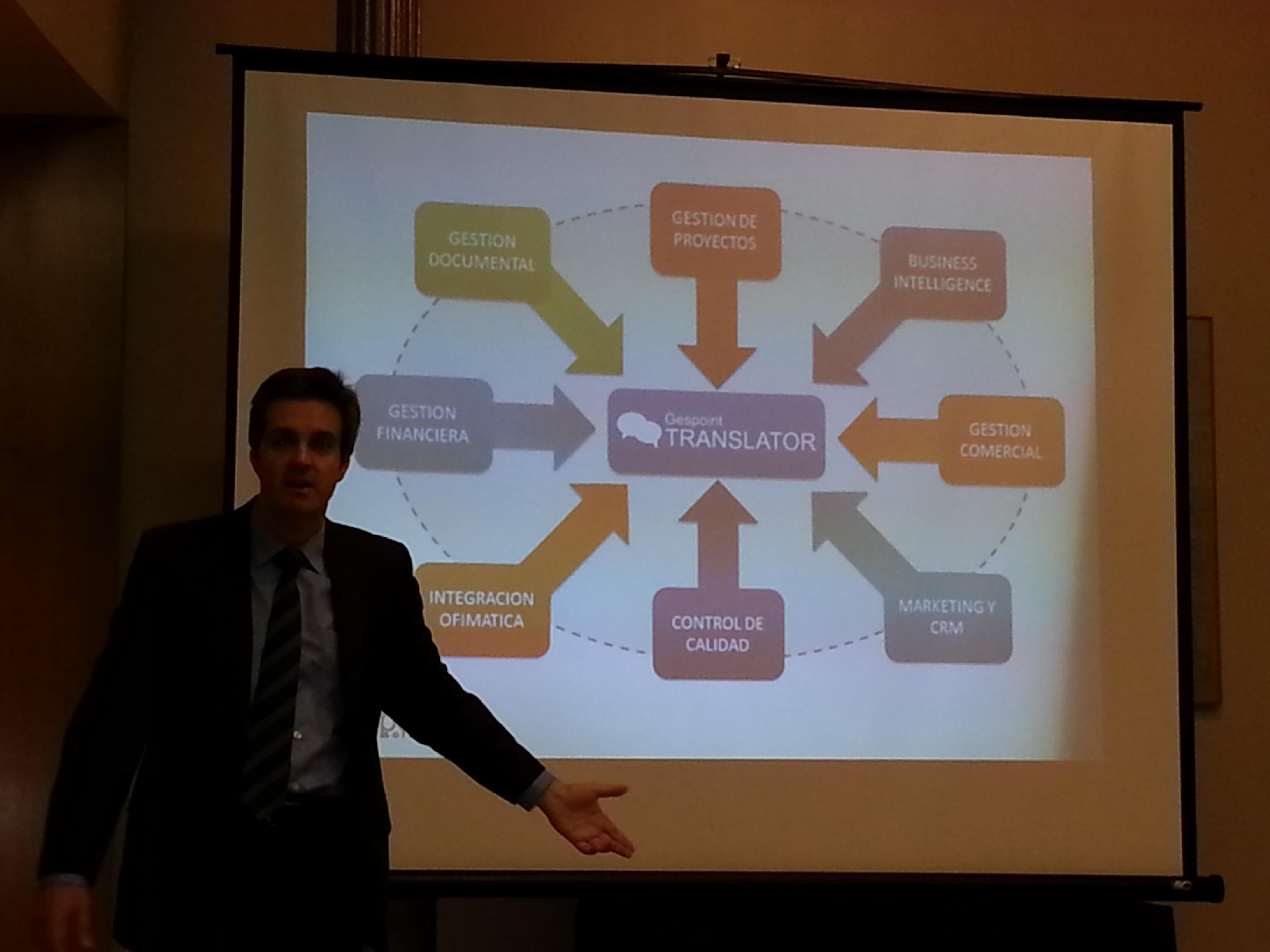 Durante la presentación de Gespoint